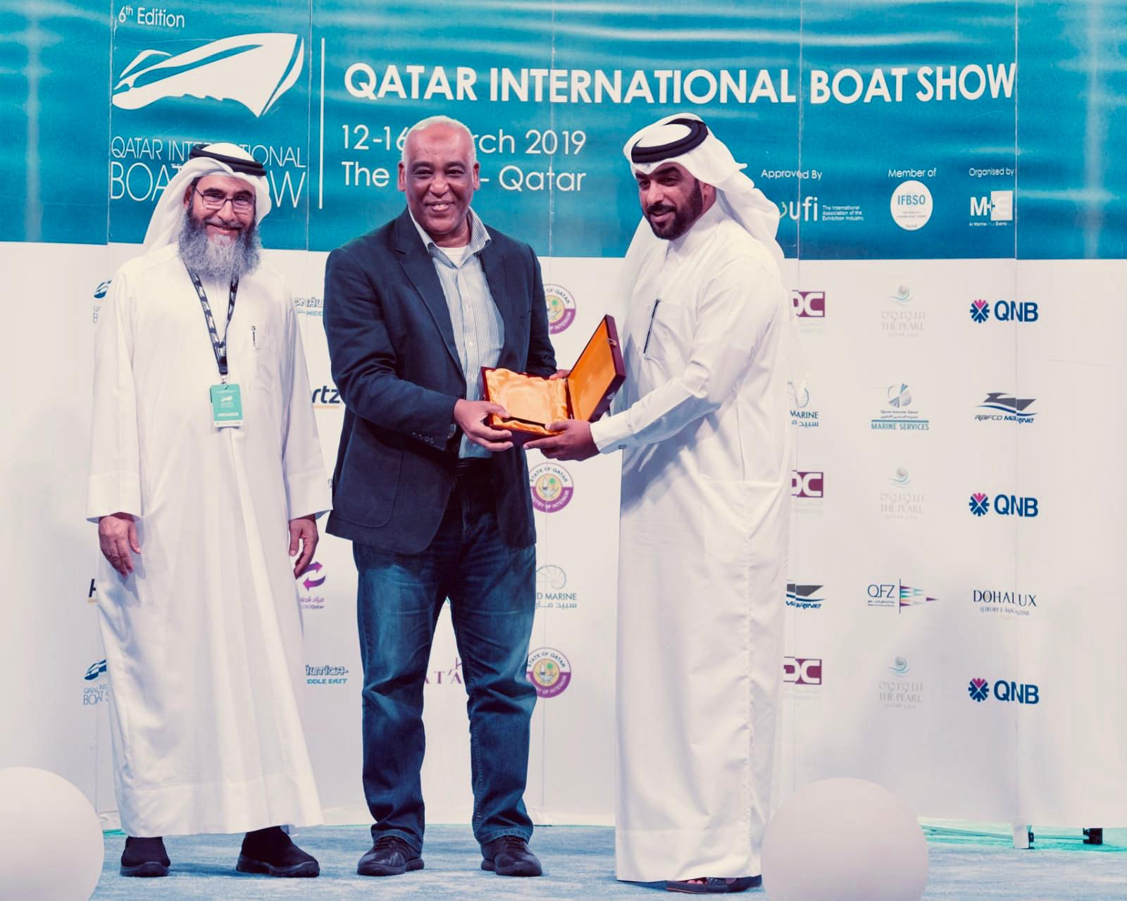 QIBS awards QIG Marine Services for being the official forwarding partner of 2019 edition