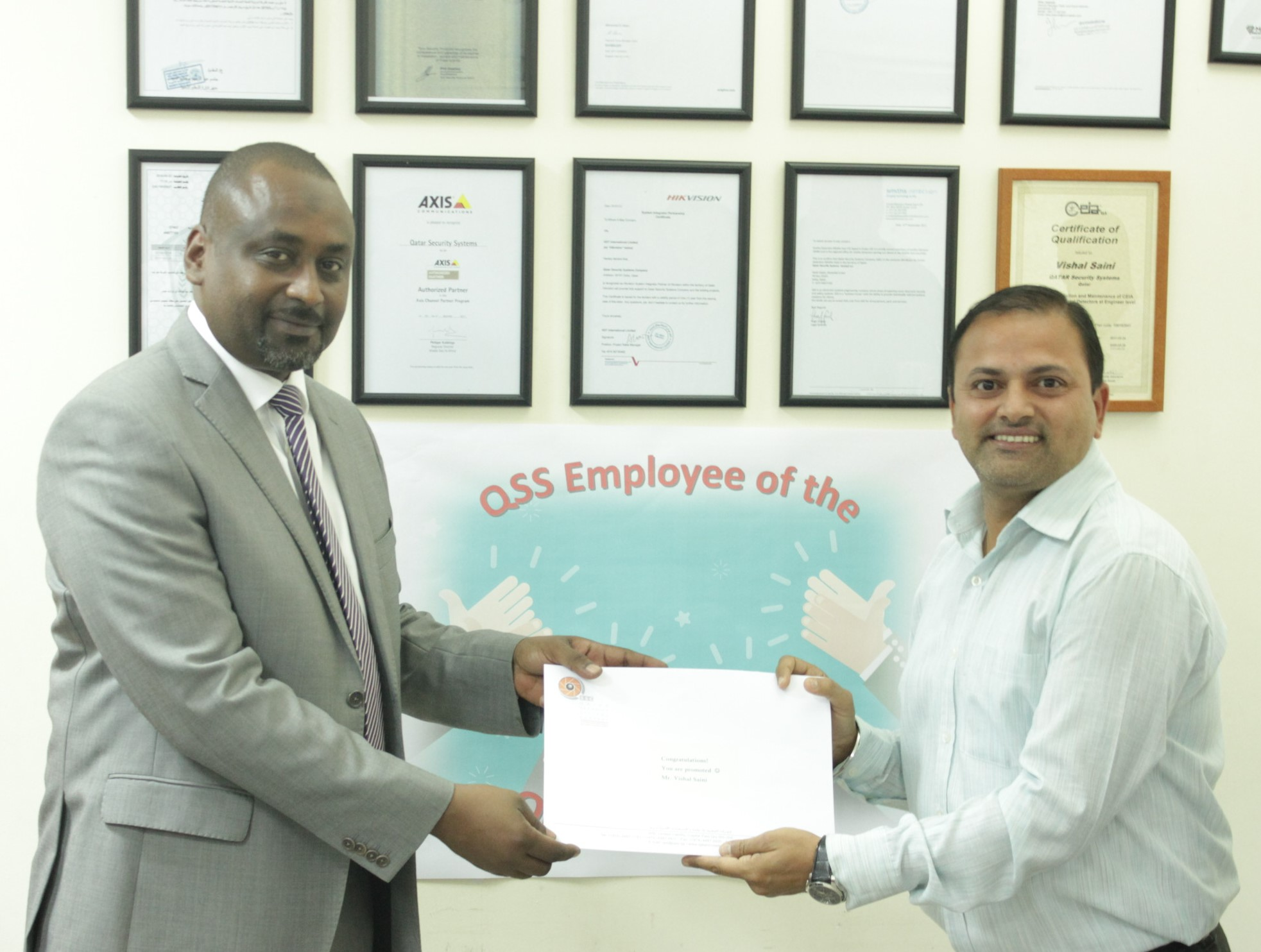 QSS HONORS A NUMBER OF EMPLOYEES FOR THEIR EFFORTS