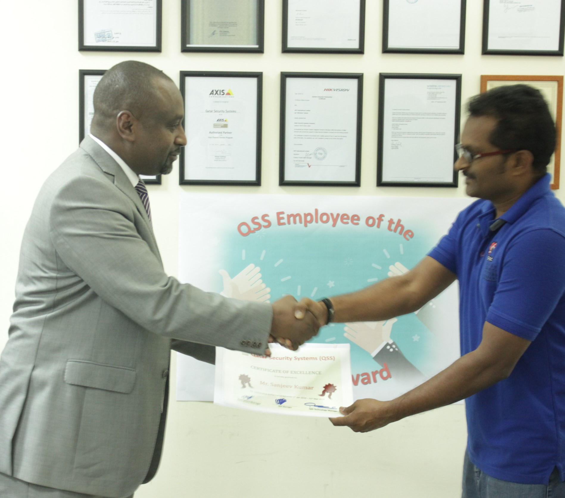 QSS HONORS A NUMBER OF EMPLOYEES