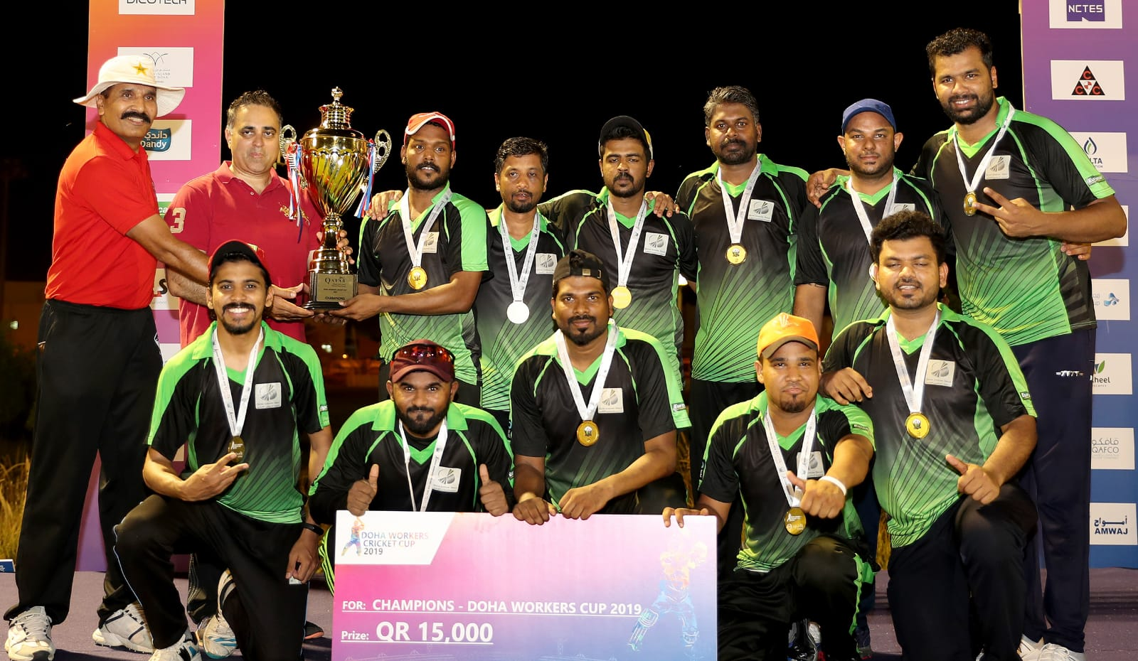 EUROPCAR QATAR TEAM WINS 2019 DOHA WORKERS CRICKET CUP